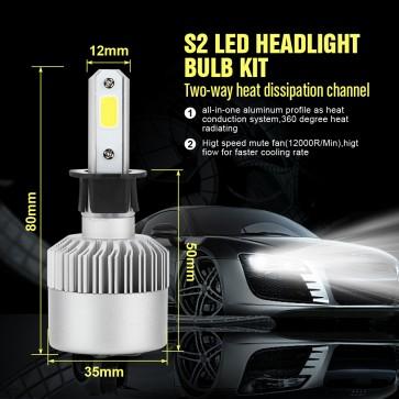 H3 LED Car Truck Headlights Bulb Grobe 200W 20000LM Super Bright Conversion  Kit